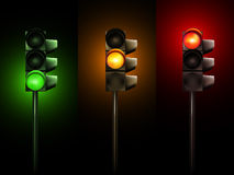 Vector Traffic Lamps Stock Photos
