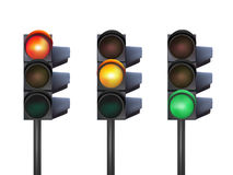 Vector traffic lights Stock Images