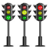 Vector traffic lights Stock Photos