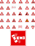 Vector traffic  signs Stock Images