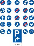 Vector traffic signs Royalty Free Stock Photo