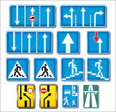 Vector traffic signs collection. Information signs Royalty Free Stock Photo