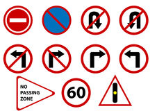 Vector traffic signs isolated. illustration vector illustration