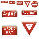 Vector traffic signs Royalty Free Stock Image