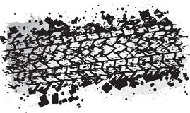 Vector trail design, trace of the tyre in grunge style.  Royalty Free Stock Photo