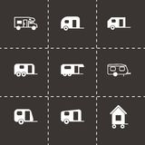 Vector trailer icon set Royalty Free Stock Photos