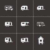 Vector trailer icon set Royalty Free Stock Photos