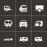 Vector trailer icon set Stock Image