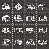 Vector Trailer icon set Stock Photography