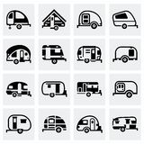 Vector Trailer icon set Stock Photo