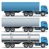 Vector Trailer Icons Royalty Free Stock Photo