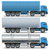 Vector Trailer Icons Set 2 Royalty Free Stock Photo