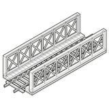 Vector train bridge, isometric 3d perspective, isolated on white background. Vector train bridge in isometric 3d perspective isolated on white background Stock Photos