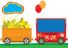Vector Train Children. Funny train for school adventure, make in illustrator Royalty Free Stock Images