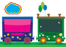 Vector Train Children Royalty Free Stock Image