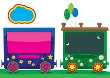 Vector Train Children. Funny train for school adventure, make in illustrator Royalty Free Stock Image
