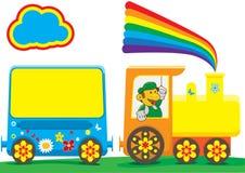 Vector Train Children. Funny train for school adventure, make in illustrator Stock Image