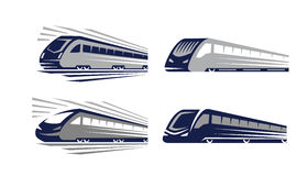 Vector Train icons Royalty Free Stock Images