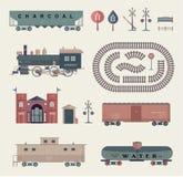 Vector train set royalty free illustration