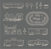 Vector train set Stock Photos