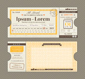 Vector Train Ticket Wedding Invitation Design Template Stock Photo