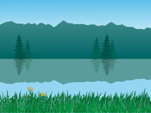 Vector tranquil landscape Royalty Free Stock Image