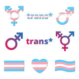 Vector trans geslachtssymbolen Stock Foto's