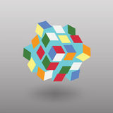 Vector Transformer Cube Similar to Rubik's Cube Royalty Free Stock Images