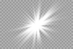 Vector transparant de flits lichteffect van de zonlicht speciaal lens de voorflits van de zonlens vector illustratie