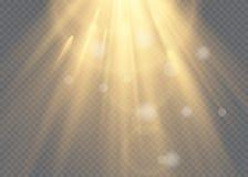 Vector transparant de flits lichteffect van de zonlicht speciaal lens de voorflits van de zonlens Vectoronduidelijk beeld in het  royalty-vrije illustratie