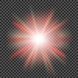 Vector transparant de gloed lichteffect van de zonlicht speciaal lens Royalty-vrije Stock Afbeelding