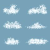Vector Transparency Gradient Clouds Set Stock Photos