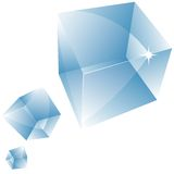 Vector transparent cube. Royalty Free Stock Images