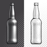 Vector transparent glass texture bottle Stock Photos