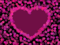 Vector transparent heart Stock Image