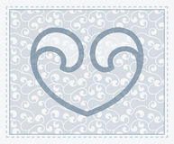 Vector transparent heart symbol in seamless backgr Royalty Free Stock Image