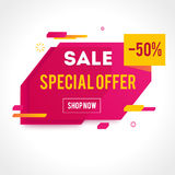 Vector Transparent SALE banner Stock Photography