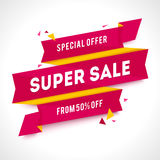 Vector Transparent SALE banner Royalty Free Stock Photography