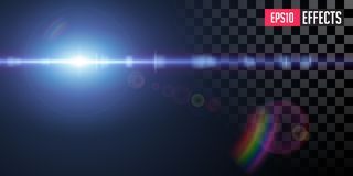 Vector Transparent Sci-Fi Blue Star Special Lens Flare Light Effect. royalty free stock image