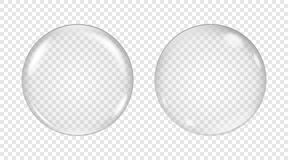 Vector transparent soap bubble. On a light background Royalty Free Stock Photos