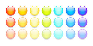 Vector transparent sphere buttons Stock Images