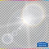 Vector transparent sunlight special lens flare light effect. Stock Photo