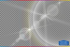 Vector transparent sunlight special lens flare light effect. Stock Images