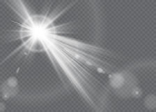 Vector transparent sunlight special lens flare light effect. Vector transparent sunlight special lens flare Stock Photography