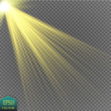 Vector transparent sunlight special lens flare light effect. Eps 10 Stock Image