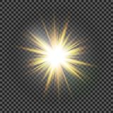 Vector transparent sunlight special lens flare light effect. Eps10. Vector transparent sunlight special lens flare light effect Royalty Free Stock Photo