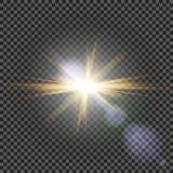 Vector transparent sunlight special lens flare light effect. Eps10. Vector transparent sunlight special lens flare light effect Stock Images