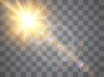 Vector transparent sunlight special lens flare light effect. royalty free illustration