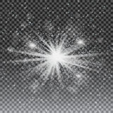 Vector transparent sunlight special lens flare light effect.  Stock Photos