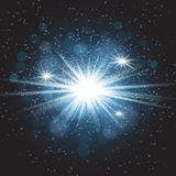 Vector transparent sunlight special lens flare light effect. Star burst with sparkles Royalty Free Stock Photography